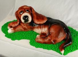 Bassett Hound Cake