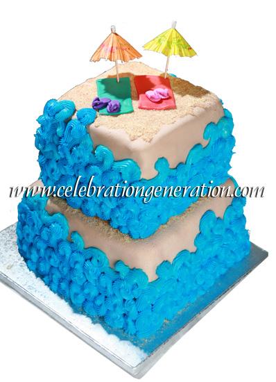 Summer Themed Cake Beach theme bridal shower