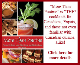 More Than Poutine: A Uniquely Canadian Cookbook. The Kickstarter is live now!