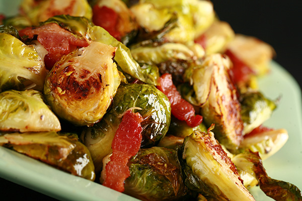 Bacon Roasted Brussels Sprouts with Dijon Vinaigrette | Celebration ...