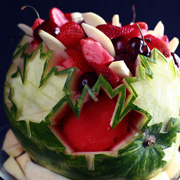 Maple Leaf Watermelon Bowl