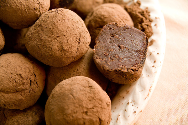 Basic Dark Chocolate Truffles