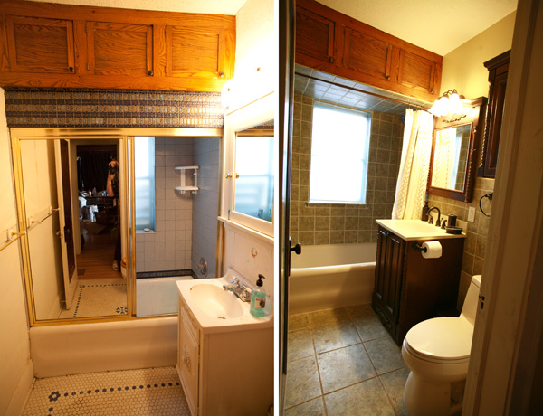 ugly bathroom before and after