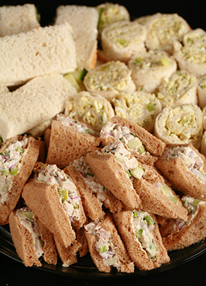 Fancy Tea Sandwiches Tarragon Chicken Salad And More