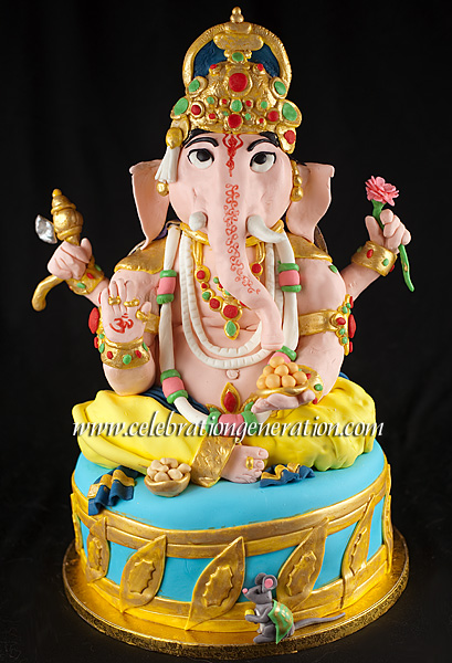 Ganesh Bday Cake Images : Showing off the ?Mad Skillz? a bit? Ganesh Cake!