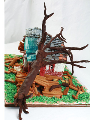 tornado gingerbread house