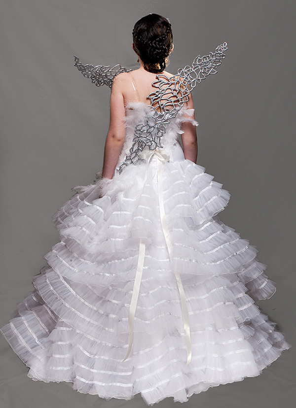 How I Made That Katnisss Catching Fire Wedding Gown Wings - Katniss Wedding Dress
