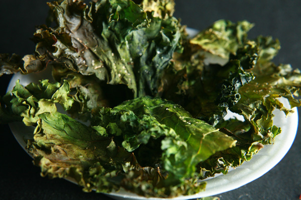 roasted kale chips