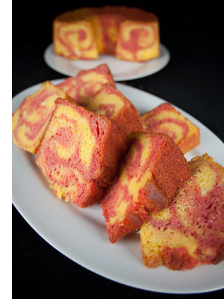 Strawberry Mango Marble Cake Recipe | Celebration Generation: Food ...