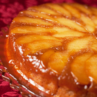 brandied apple upside down cake recipe