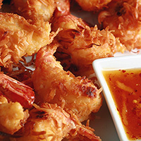 Gluten Free Coconut Shrimp with Ginger-Orange Sauce