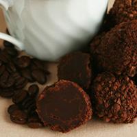 dark chocolate espresso truffles