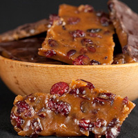 blood orange cranberry toffee
