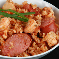 Chicken, Shrimp, & Sausage Jambalaya