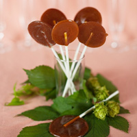 hop flavored beer lollipops