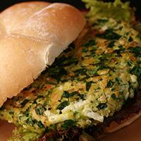 Spinach Feta Salmon Burgers