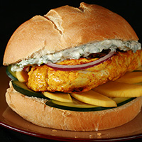 Tandoori Spiced Chicken Burgers