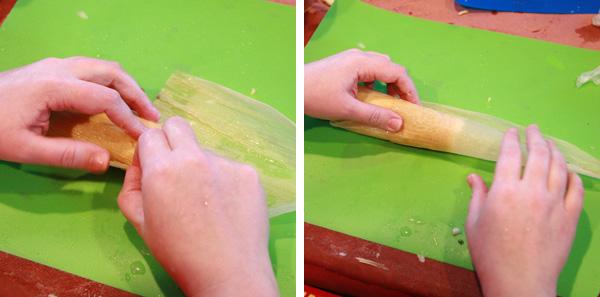 rolling tamales tutorial