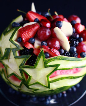 How to Carve a Watermelon – Stars and Stripes