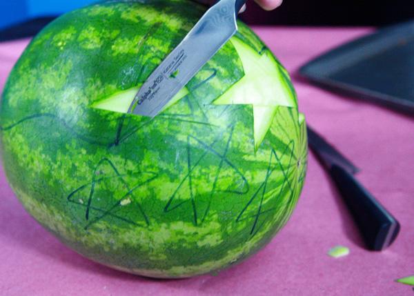 How to carve a watermelon u stars and stripes
