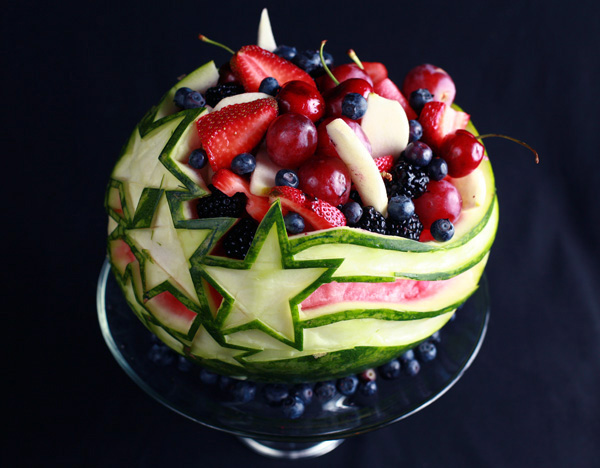 How to carve a watermelon stars and stripes