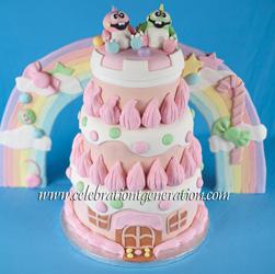 Bubble Bobble Wedding Cake
