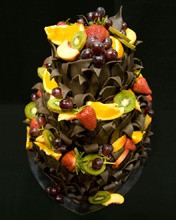 Chocolate Leaves & Fruit