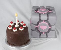Portal Companion Cube Cake