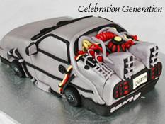 Back to the Future Birthday Cake Delorean
