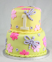 Dragonflies Birthday Cake