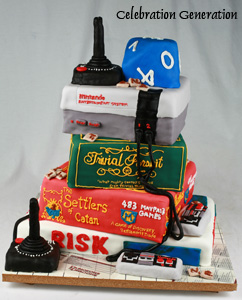 Board Games Geek Cake