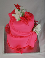Draped Birthday Cake