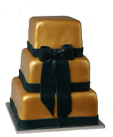 Metallic Gold Graduation Cake