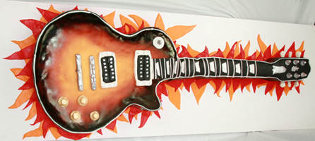 Gibson Electric Guitar Cake