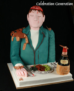 Silence of the Lambs Cake/ Hannibal Lecter's Victim Cake