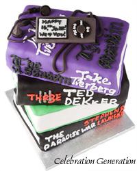 Ipod and Books Birthday Cake