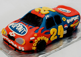 Jeff Gordon Racecar Cake