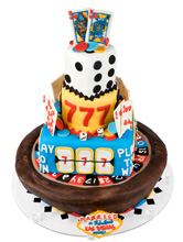 Las Vegas Themed Wedding Cake