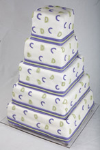 Monograms Wedding Cake