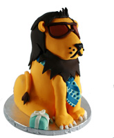 Cool lion Groom's Cake