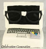 Nerdy Laptop Birthday Cake