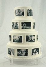 Engagement Photos Wedding Cake