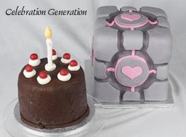Portal Companion Cube Wedding Cake