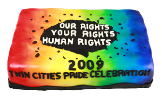Twin Cities Pride Cake