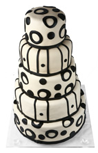 Retro Patterns Wedding Cake