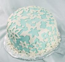 Glittery Snowflakes Cake