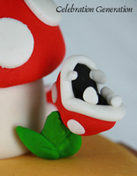 Super Mario Brothers Anniversary Cake Details