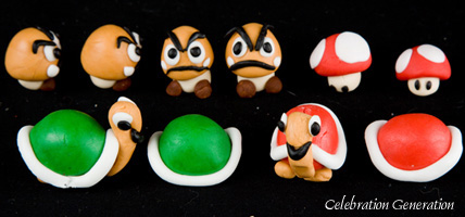 Super Mario Brothers Wedding Cake accessories