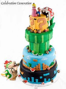 Super Mario Brothers Wedding Cake