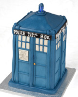 Tardis Cake for Wil Wheaton